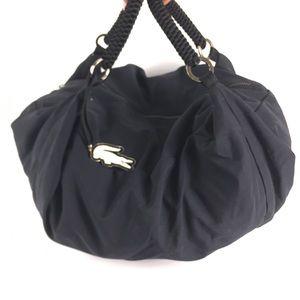 Lacoste Black Nylon duffle shopper bag